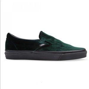 VANS Green Velvet Sneakers
